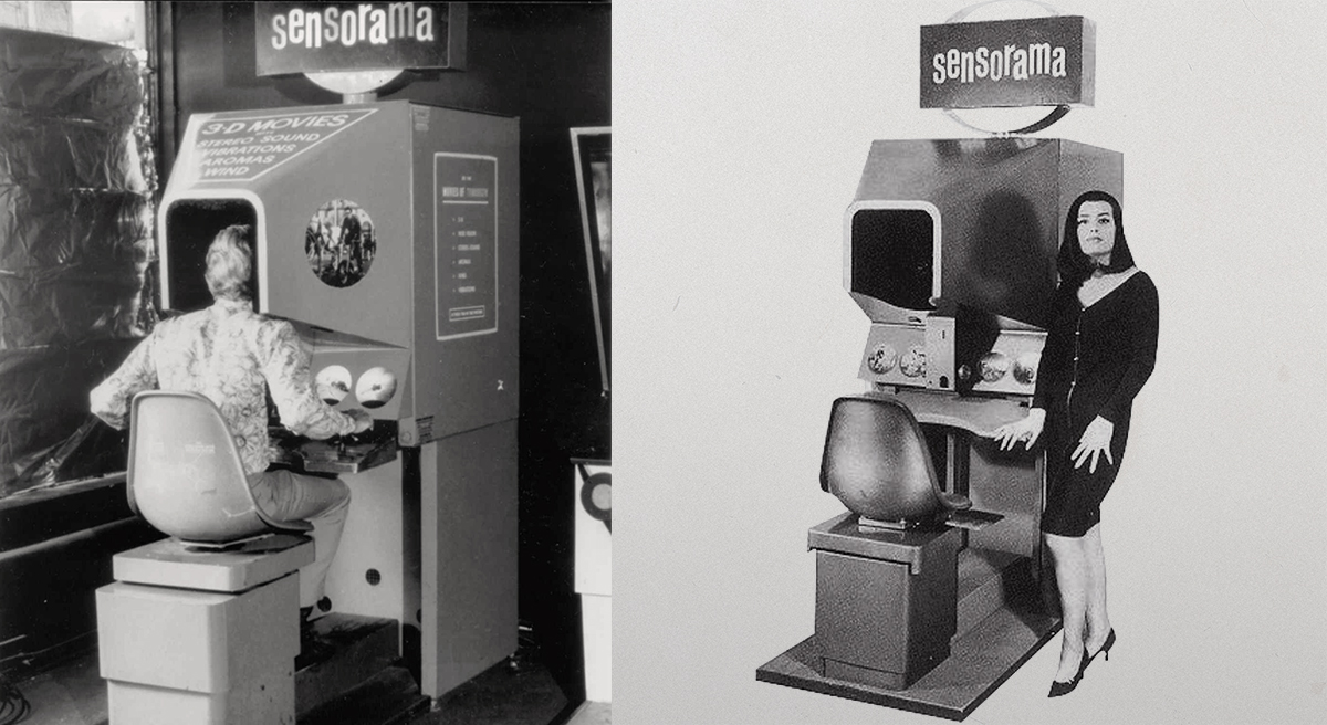 Sensorama machine designed by Morton Heilig