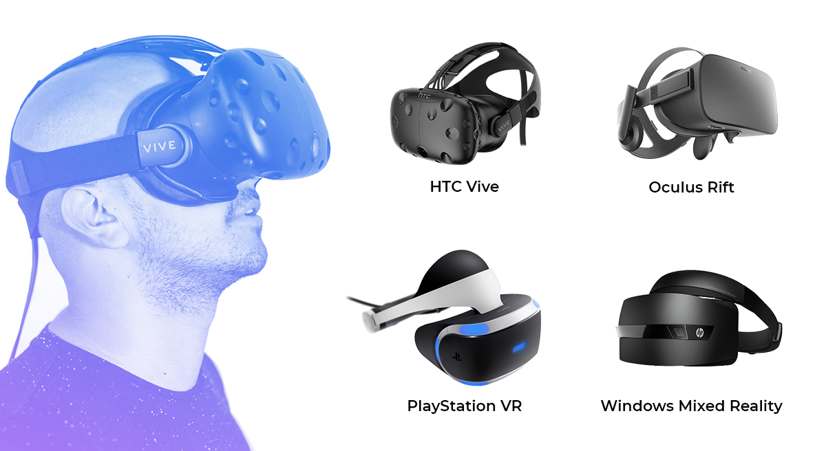 VR sets existing on the market in 2018